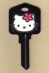 HELLO KITTY BLACK KWIKSET HOUSE KEY BLANK KW1 2011 SANRIO