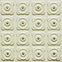 118 Cream Pearl Faux Tin Decorative Ceiling Tiles