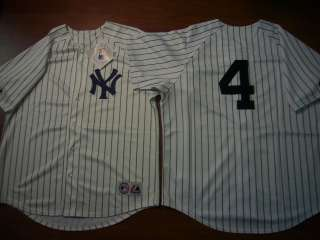 MAJESTIC New York Yankees LOU GEHRIG SEWN Baseball Jersey WHITE ANY
