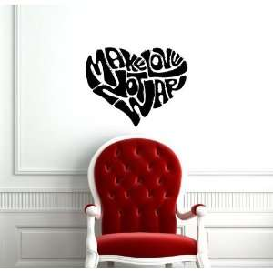 com Make Love Not War Heart Cute Design Wall Vinyl Sticker Decals Art