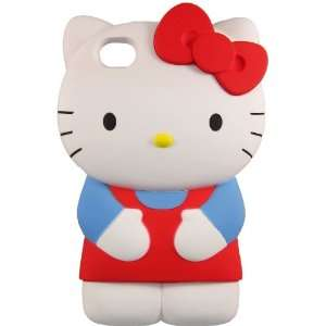 or 4S case   Blue/Red 3D HELLO KITTY CASE Cell Phones & Accessories