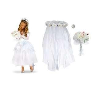 Princess Cinderella Wedding White Costume Dress Size L