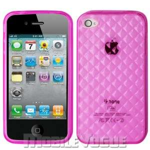TPU Silicone Skin Case Cover For Apple iPhone 4S AT&T Verizon Hot Pink