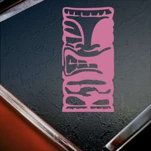 Tiki Pink Decal Car Truck Bumper Window Vinyl Pink Sticker