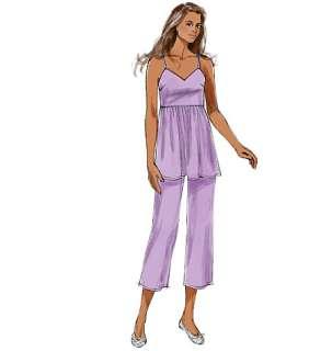 B5653 Butterick 5653 Top Dress Pants Sleepwear Pajama Nightgown Gown