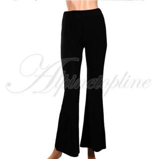 Black Sleek Foldover Lounge Boho Wide Leg Gaucho Pants