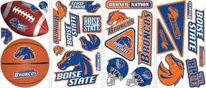BOISE STATE BRONCOS Wall Stickers BSU Decals Room Car