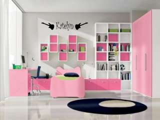 GIRLS NAME ROCK GUITARS Vinyl Wall Decal Sticker Decor