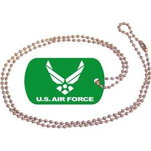 U.S. Air Force Green Dog Tag with Neck Chain Everything