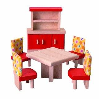 Play Wonder Dollhouse Wood Kitchen Accessory 5 Piece Set Toys & Games