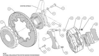 Front Disc Brake Kit Wilwood 140 8292 DR +