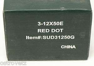 SUD31250G 3 12x50E Red Dot Sporting Scope   Never Used   Factory Box