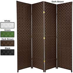 Wood and Woven Fiber 6 foot Outdoor All weather Room Divider (China