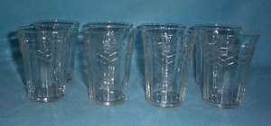Vintage Montgomery Ward Raised Diamond Water Glasses 8