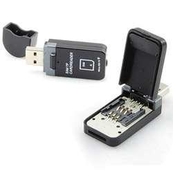Gearhead CR6300 USB SIM MicroSD T Flash Card Reader (Refurbished