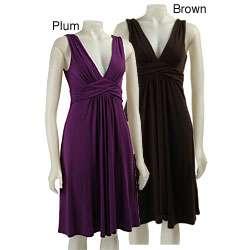 Curtsey Womens Empire V neck Dress
