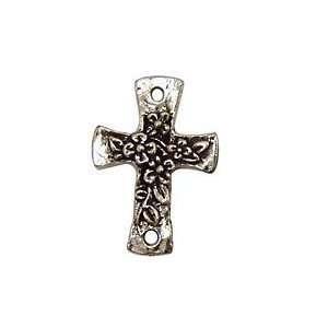 Green Girl Pewter Floral Cross Link 22x31mm Findings Arts