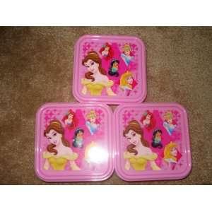 Disney Princess Food Container Belle Ariel Cinderella Jasmine
