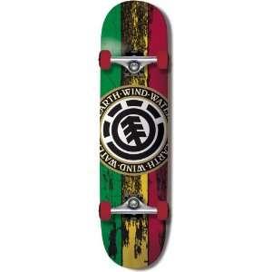 Element Thriftwood Complete Skateboard (Rasta Seal Logo, 7