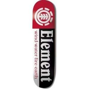 Element Skateboards Section Logo Deck: Sports & Outdoors