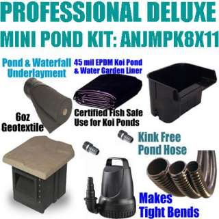 Professional 12x15 Deluxe Mini Pond Kit ANJMPK8x11 for Wholesale