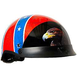 DOT Rebel Flag Shorty Motorcycle Helmet
