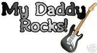 My Daddy Dad Uncle BAND Rocks kids Toddler t shirt tee