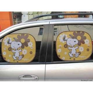 Pair Cute Car Side Window Sunshade Sun Shade Car Cover Visor Truck 4