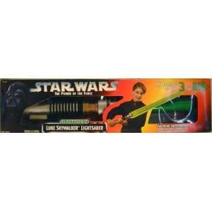 com STAR WARS POTF Luke Skywalker Electronic LIGHTSABER Toys & Games