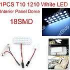 White LED Panel 18SMD 1210 car Interior Dome lights lamp T10
