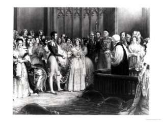 Marriage of Queen Victoria and Prince Albert at St. Jamess Palace on