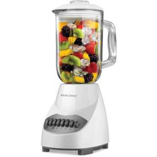 Black & Decker 10 Speed Table Top Blender, Glass Jar