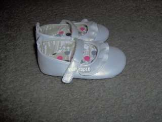 Carters Toddler Girls Ivory Soft Sole Dress Shoes Size 4