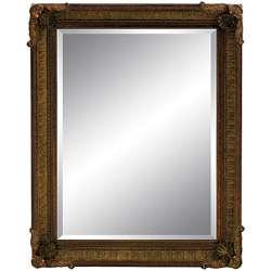 Rectangular Framed Dark Gold Patina Leaner Mirror