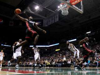 Miami Heat v Milwaukee Bucks: LeBron James Photographic Print by