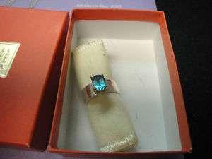 JAMES AVERY Julietta Ring Blue Topaz 14K GOLD & SS 6.5