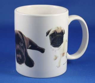 The DOG Artist Collection Ceramic Mug Pug Labrador