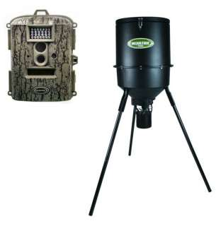 Spy D 55IR Digital Trail Camera + 30 Gallon Tripod Deer Feeder