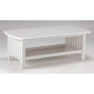 Night & Day Furniture Keywest Coffee Table in White Furniture