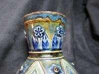 1881 ART POTTERY ART NOUVEAU VASE ROYAL DOULTON LAMBETH SALT GLAZE