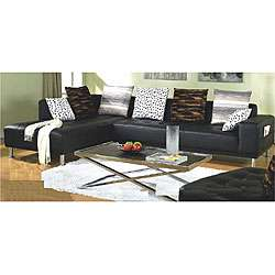 piece Bicast Leather Sectional Sofa/ Chaise and Chair