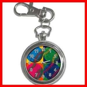 Baseball Balls Sports Game Silver Key Chain Watch New
