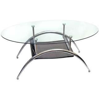 Modern 38 inch Black Mesh Coffee Table