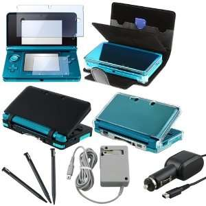 For Ninterndo 3DS Accessories Stylus+Case+Charger+Film
