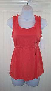 Coral Polo Jeans Company Ralph Lauren Ladies Tank Top NWT