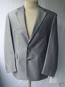 44L New Mens Western Wear Sport Coat Ocean Gray 44L