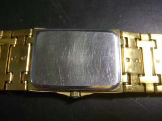 Vintage Mens Longines QWR Gold Plated Watch w/ Diamonds