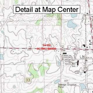 USGS Topographic Quadrangle Map   Sardis, Mississippi