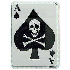 ARMY ACE OF SPADES DEATH CARD CAR WINDOW STICKER DECAL