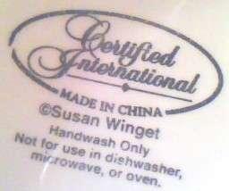 Halloween Ghost Cider Mug Susan Winget Tall Porcelain
